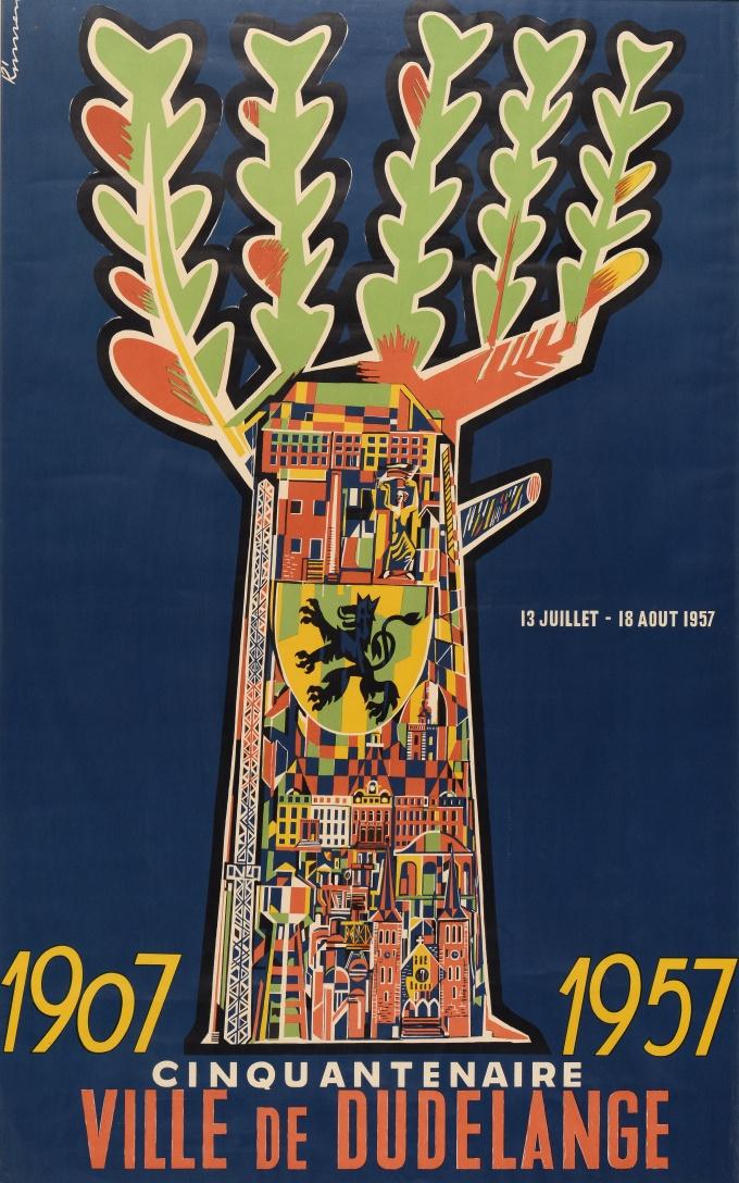 Affiche réalisée à l'occasion du cinquantenaire de la ville